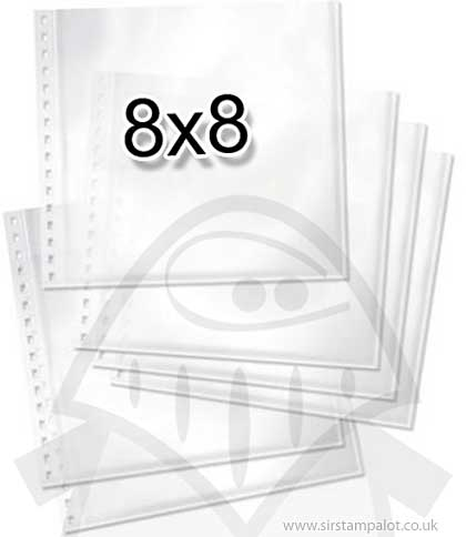 Teresa Collins Pre-punched Page Protectors 8x8 (6PK)