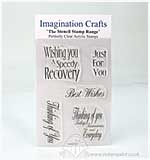 SO: Imagination Crafts Stencil Stamps - Thinking of You