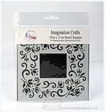SO: Imagination Crafts Stencil Template - Lacy Swirl Border