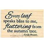 Inky Antics - Wood Stamp - Every Leaf Fluttering