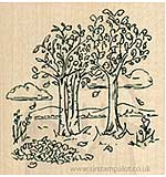 Inky Antics - Wood Stamp - Birch Trees