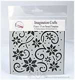 SO: Imagination Crafts Stencil Template - Flower Flourish