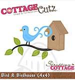 SO: Cottage Cutz - 4x4 Cutting Die - Bird and Birdhouse