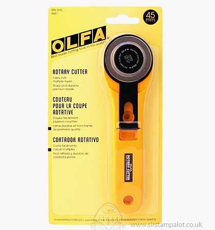 SO: Olfa Sharp Durable Premium Bladed Rotary Cutter - 45mm