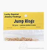 Jewelry Findings Yellow Plated Brass - 6mm Jump Rings (50 pcs)