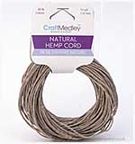 SO: Craft Medley - Natural Hemp Cord (15 yards)