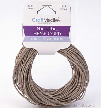 Craft Medley - Natural Hemp Cord (15 yards)