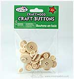 Craftwood - Craft Buttons Assorted (40 PK)