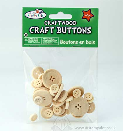 SO: Craftwood - Craft Buttons Assorted (40 PK)