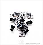 Eyelets - Cats - Black