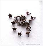 Brads - Stars - Brown