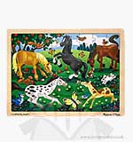Melissa and Doug - Wooden Jigsaw Puzzle - Frolicking Horses4