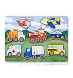 Melissa and Doug - Wooden Peg Puzzle - Vehicles