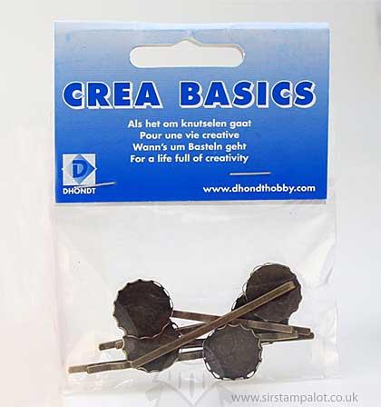 SO: Crea-Basics Metal Embellishments - Attache Crevatte Tie Clips 5P