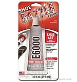 SO: E6000 Adhesive Glue Shoe Dazzle Clear Transparent 1FL OZ
