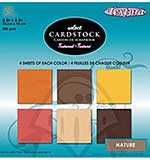 SO: Textura 6x6 Textured Cardstock Pad - Nature 24 Sheets
