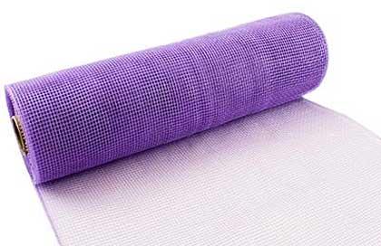 SO: Eleganza Deco Mesh 25cm x 9.1m (10yds) Lavender No.45
