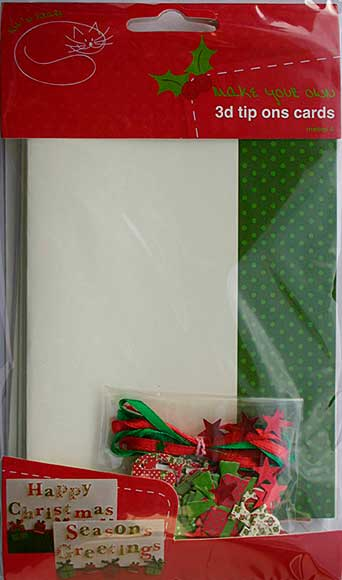 A6 Card Kit - 4 Cute 3D Christmas Card with Envelope