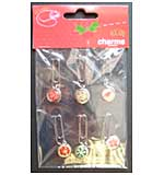 Epoxy Crystal Clip Charms 6pk