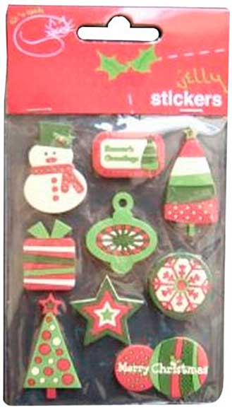 Jelly Labels - 9 Christmas Jelly Stick-ons