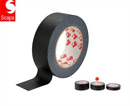 Scapa Self Adhesive Black Masking Tape 38mm x 50m
