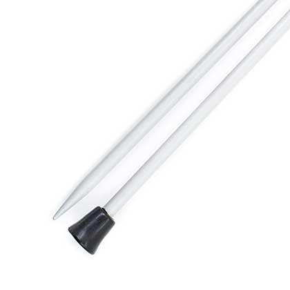 KnitPro Basix Aluminium Single Point Needles 25cm (1 Pair) (4.00mm)