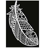 SO: Pronty A4 Mask Stencil - Feather Zentangle
