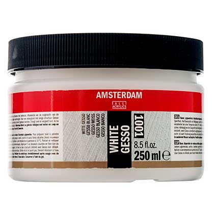 SO: Amsterdam Acrylics White Gesso Primer Jar 250ml