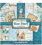 SO: Stamperia 8x8 paper pad - Blue Stars (20 sheets)