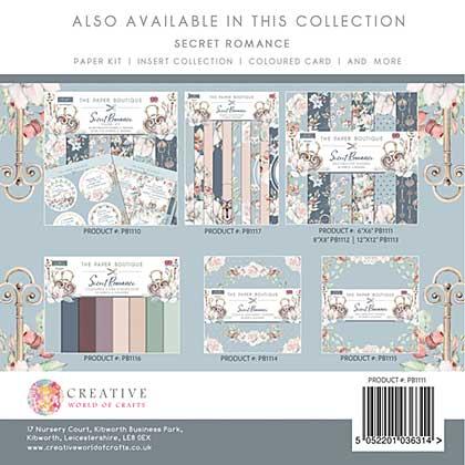 SO: Paper Boutique Secret Romance 6x6 Paper Pad