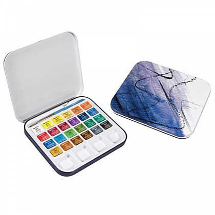 SO: Daler Rowney Aquafine Travel Watercolour Box (Pack of 24)