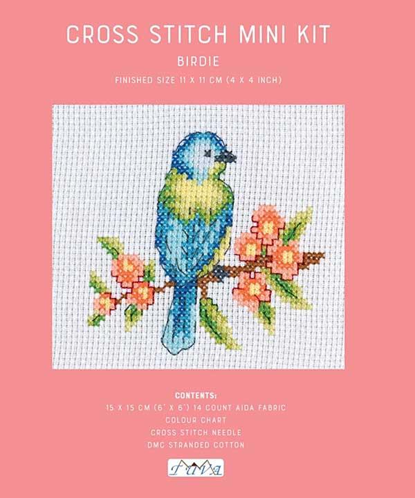 Cross Stitch Mini Kit - Birdie