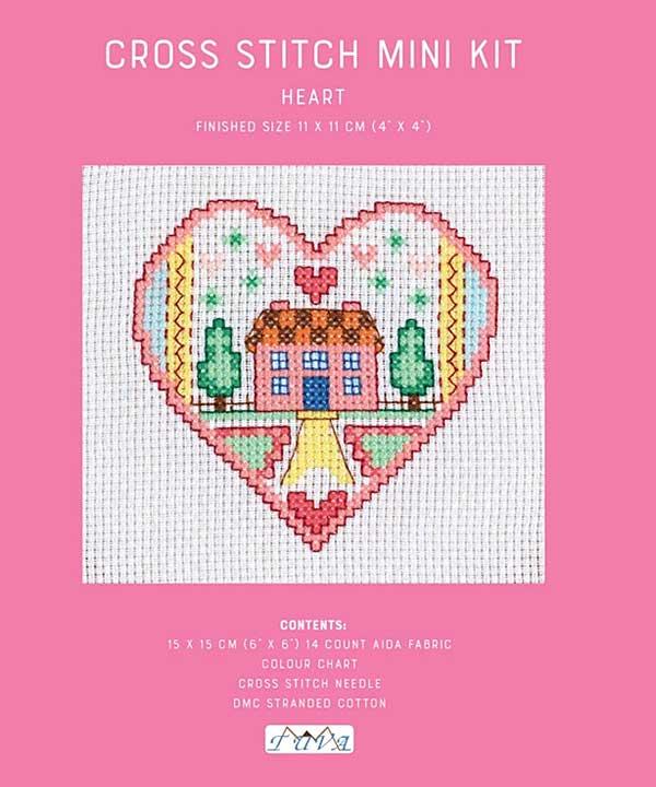 Cross Stitch Mini Kit - Heart