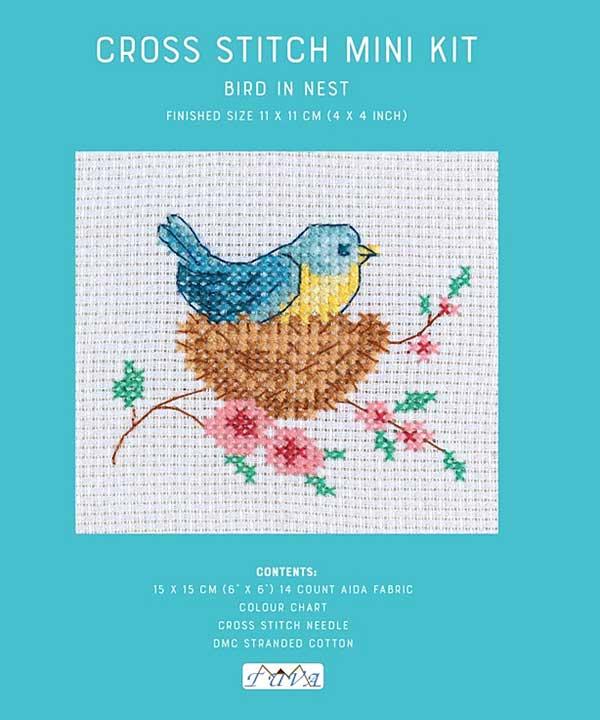 Cross Stitch Mini Kit - Bird in a nest
