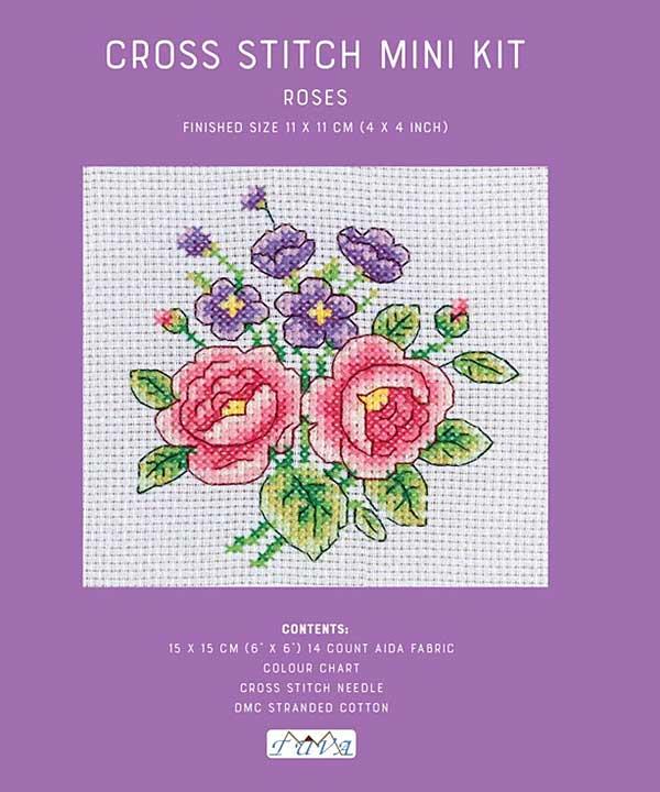Cross Stitch Mini Kit - Roses