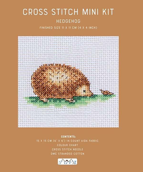 Cross Stitch Mini Kit - Hedgehog