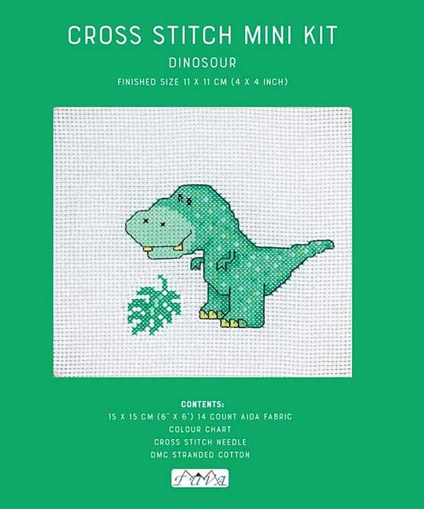 Cross Stitch Mini Kit - Dinosaur