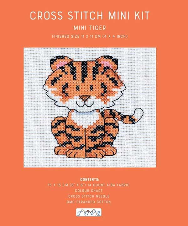 Cross Stitch Mini Kit - Baby Tiger
