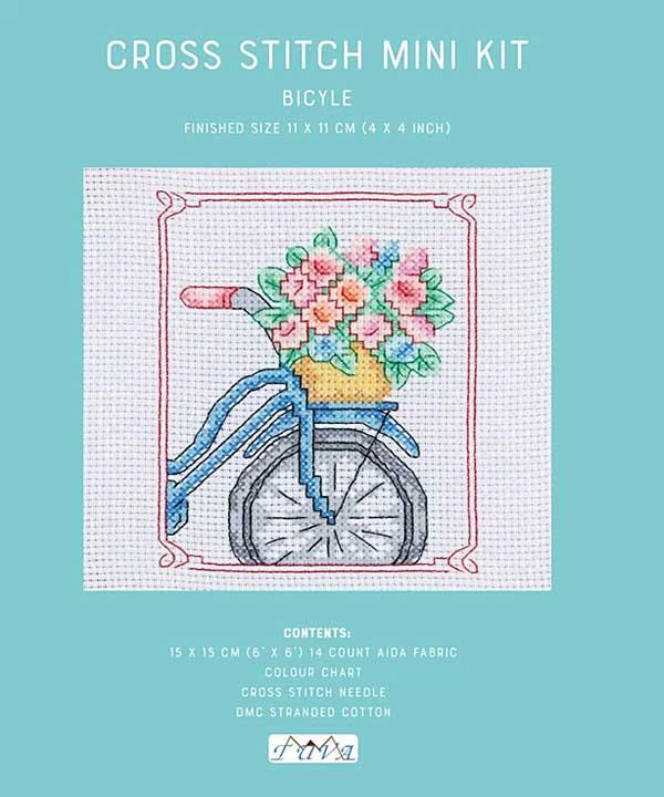 Cross Stitch Mini Kit - Bicycle