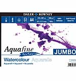 SO: Daler Rowney - Jumbo Aquafine Textured Watercolour Sketchbook A4 Landscape (300gsm, 50 Pages)