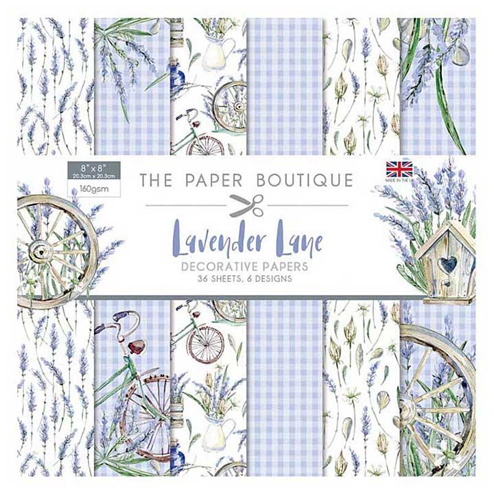 SO: The Paper Boutique - Lavender Lane 8x8 Paper Pad