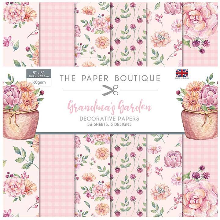 The Paper Boutique Grandma\'s Garden 8x8 Paper Pad