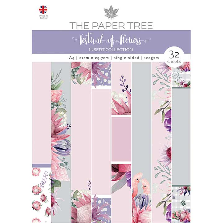 The Paper Tree A Festival of Flowers A4 Insert Collection