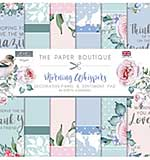 The Paper Boutique Morning Whispers 8x8 Panels & Sentiments Pad