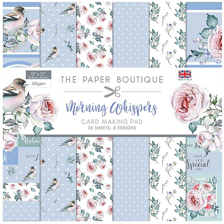 The Paper Boutique Morning Whispers 12x12 Card Making Pad