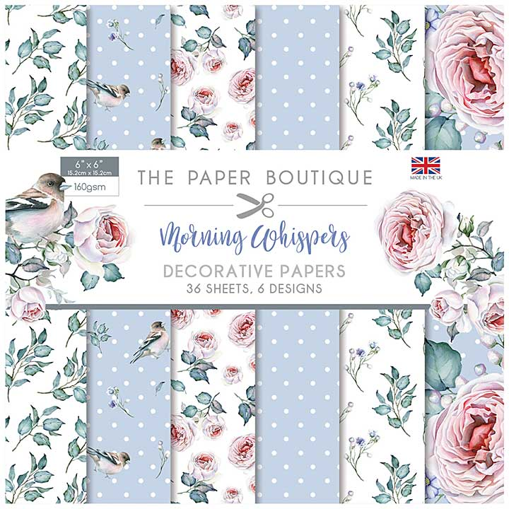 The Paper Boutique Morning Whispers 6x6 Paper Pad