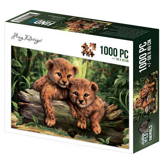 Amy Design Wild Animals Jigsaw Puzzle - Cubs (1000 pieces)