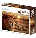 Amy Design Wild Animals Jigsaw Puzzle - Lion with Cubs (1000 pieces)