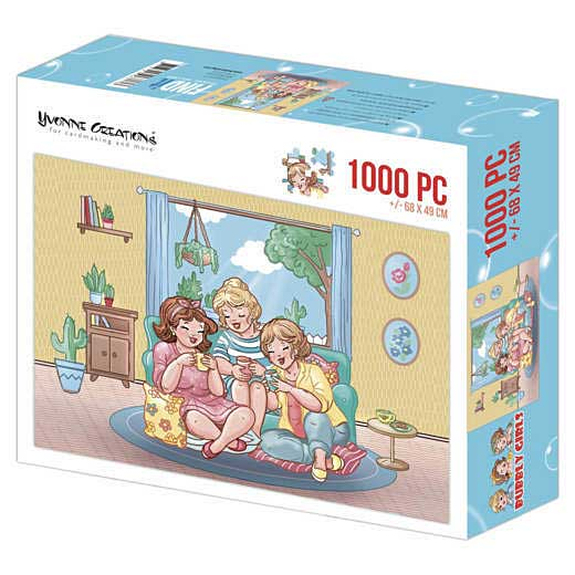 SO: Yvonne Creations Bubbly Girls Jigsaw Puzzle - Tea Time (1000 pieces)