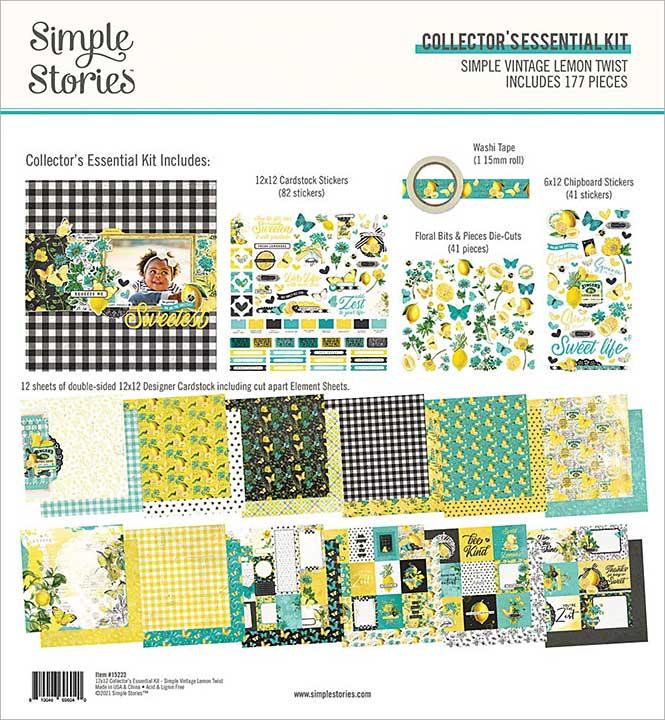 Simple Stories Collector\'s Essential Kit 12x12 - Simple Vintage Lemon Twist